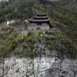 Fortified building at Yangtze River - Stock Photo