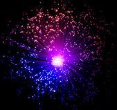 Illuminated plastic optical fibers — Stock Photo