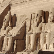 Statues at Abu Simbel temples - Stock Photo