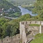 Aerial scenery around Wertheim Castle — Stock Photo