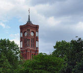 Tower of the Red Town Hall — Stock Photo