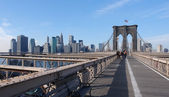At Brooklyn Bridge — Fotografia Stock