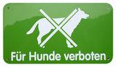 Green dogs forbidden sign — Stock Photo