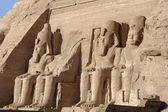 Statues at Abu Simbel temples — Stock Photo