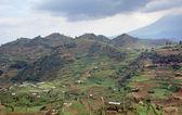 Clouded Virunga Mountains scenery — Stock Photo