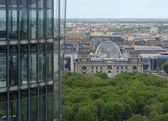 Aerial view with german parliament — Stock Photo