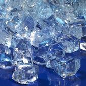 Modré osvětlené led kostky — Stock fotografie