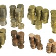 Stacked euro coins - Stock Photo
