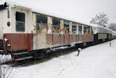 Detail of a old railway car — Стоковое фото