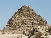 Pyramid of the queens in Egypt — Stock Photo