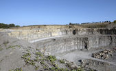 Quarry wall scenery — Stock Photo