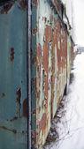 Szczegóły starych wagonów kolejowych zgniłe — Zdjęcie stockowe