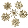 Decorative christmas straw stars - Stock Photo