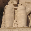 Ramesses at Abu Simbel temples in Egypt - Stock Photo