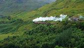 Pictorial steam train in Scotland — Stock Photo