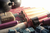 Set of firecrackers — Stock Photo