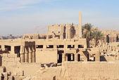 Sunny illuminated Precinct of Amun-Re in Egypt — Stock Photo