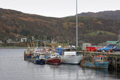 Fishing boats near Ullapool — Stock Photo