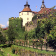 Castle Langenburg at summer time - Stock Photo