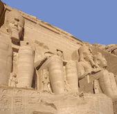 Sculptures at Abu Simbel temples — Stock Photo