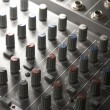 Studio mixer detail — 图库照片