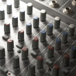 détail table de mixage Studio — Photo