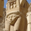 Stock Photo: Sculpture at Mortuary Temple of Hatshepsut
