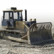 Crawler in stone pit — Stock Photo #7182715