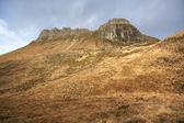 Bruin begroeide heuvels in de buurt van stac pollaidh — Stockfoto