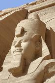 Ramesses at Abu Simbel temples — Stock Photo