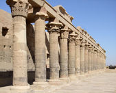 Sunny temple of Isis detail — Stock Photo