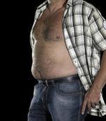 Potbelly of a man — Stock Photo