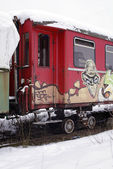 Old railway car — Stock Photo