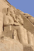 Stone sculptures at Abu Simbel temples in Egypt — Stock Photo