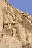 Ebu simbel tapınakları mısır, taş heykeller — Stok fotoğraf