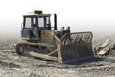 Crawler in a stone pit — Stock Photo