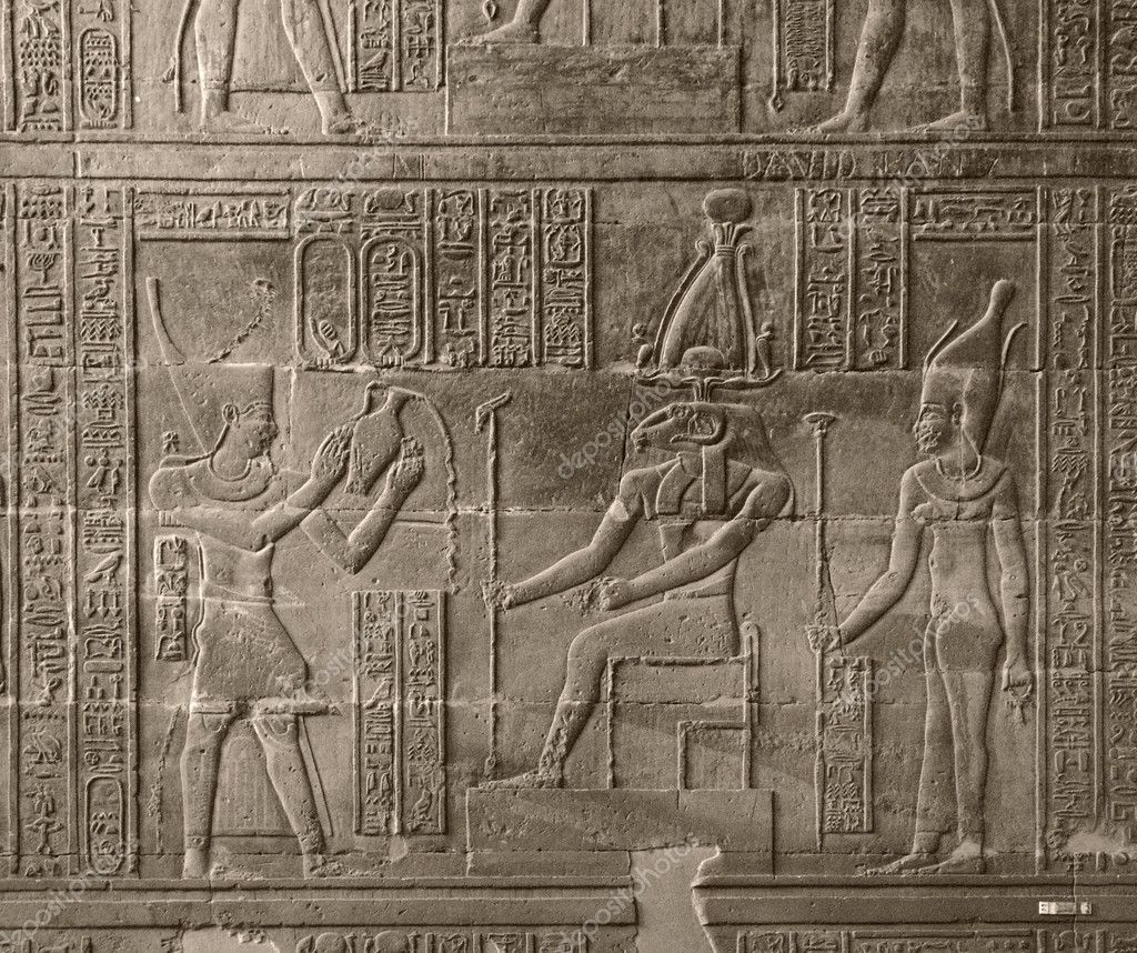 A relief at the Chnum Temple in Esna, a city in Egypt (Africa) — Stok fotoğraf #7182640