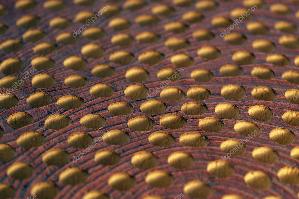 Abstract detail of a piece of wood with holes — Stock Photo #7182670
