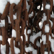 Foto Stock: Chains and snow