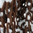 Stockfoto: Chains and snow