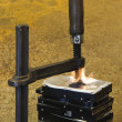 Burning vise and hard disks — Stock Photo #7196956