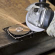 Circular saw detail - Stock Photo