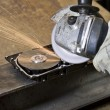 Stock Photo: Circular saw detail