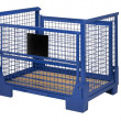 Blue lattice box - Stock Photo
