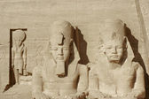 Sculptures at Abu Simbel temples — Stock Photo