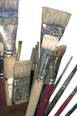 Lots of used brushes — Stock Photo