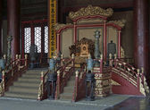 Throne in the Forbidden City — Fotografia Stock