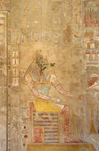 Painting inside the Mortuary Temple of Hatshepsut — Stock Photo