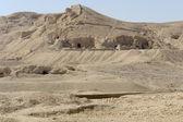 Rock cut tombs near Mortuary Temple of Hatshepsut — Stock Photo
