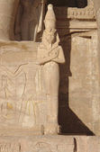 Sculpture at Abu Simbel temples in Egypt — Stock Photo